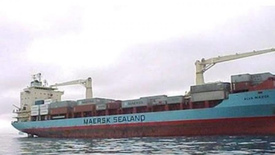 Танкерът Maersk Alabama, сниман още със старото си име Maersk Alva