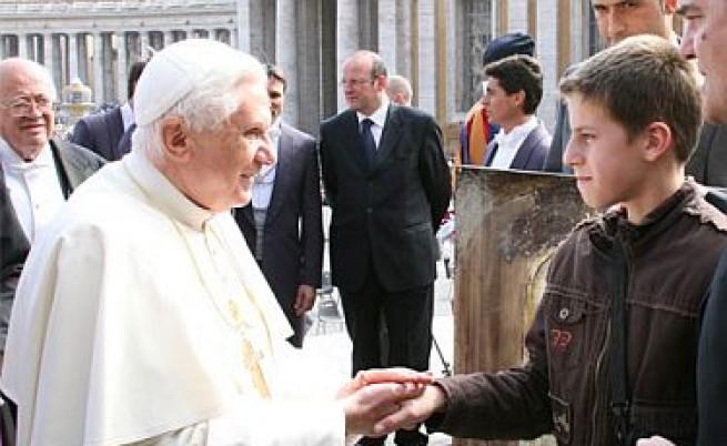 Папата изтъкна делото на Кирил и Методий на аудиенция с Първанов
