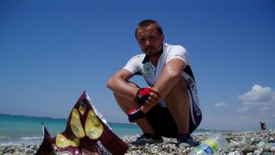 С колело около Черно море в търсене на боклуци