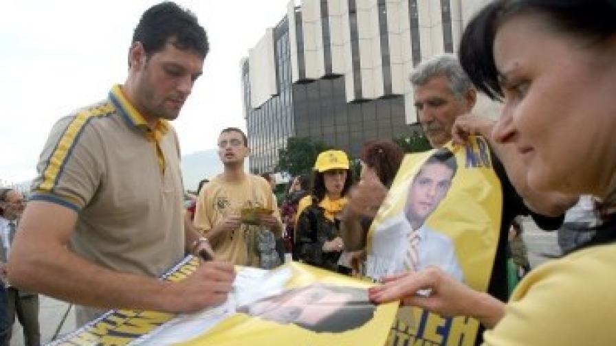 Пламен Константинов по време на предизборната кампания