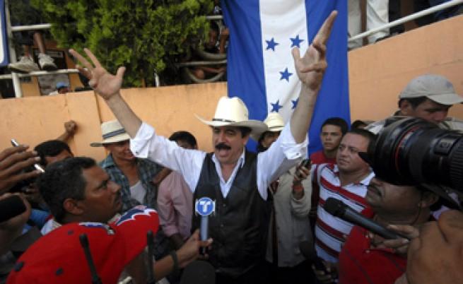 Отстраненият Селая прескочи до Хондурас и после се върна в Никарагуа