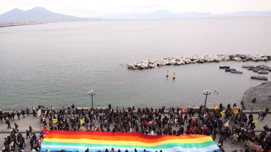 Протест срещу мафията в Италия.