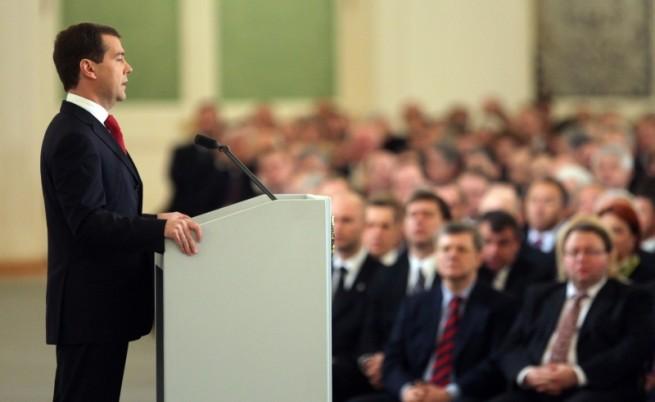 Реч на Медведев пълна с изненади