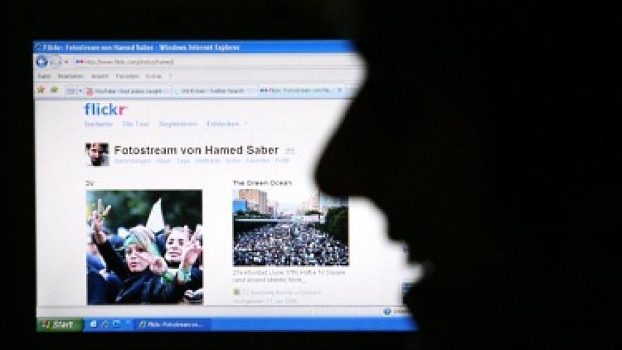 Снимки от демонстрациите в Иран се разпространяваха чрез онлайн платформи като Flickr