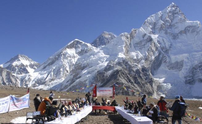 Правителствено заседание на Еверест