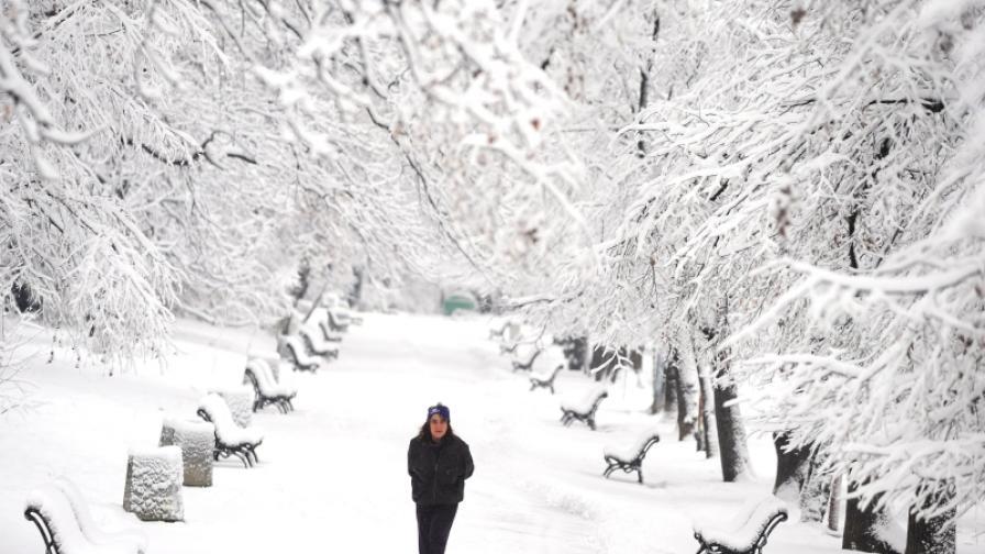 България е покрита със сняг