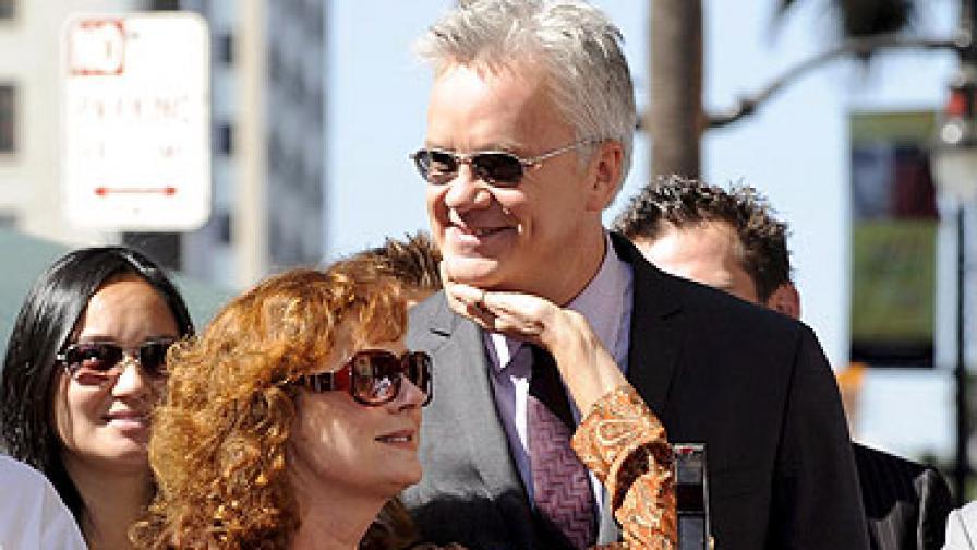 Сюзан и Тим през 2008 г., когато той получи звезда на Алеята на славата
