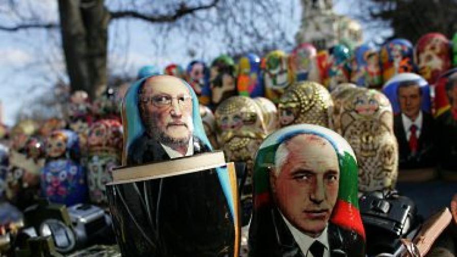 Ликът на Бойко Борисов грее на матрьошка