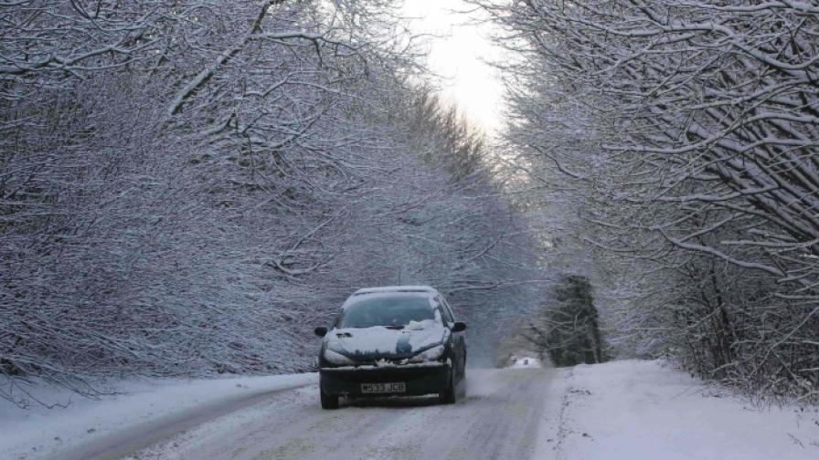 Снегът е покрил Линкълншиър в Източна Англия