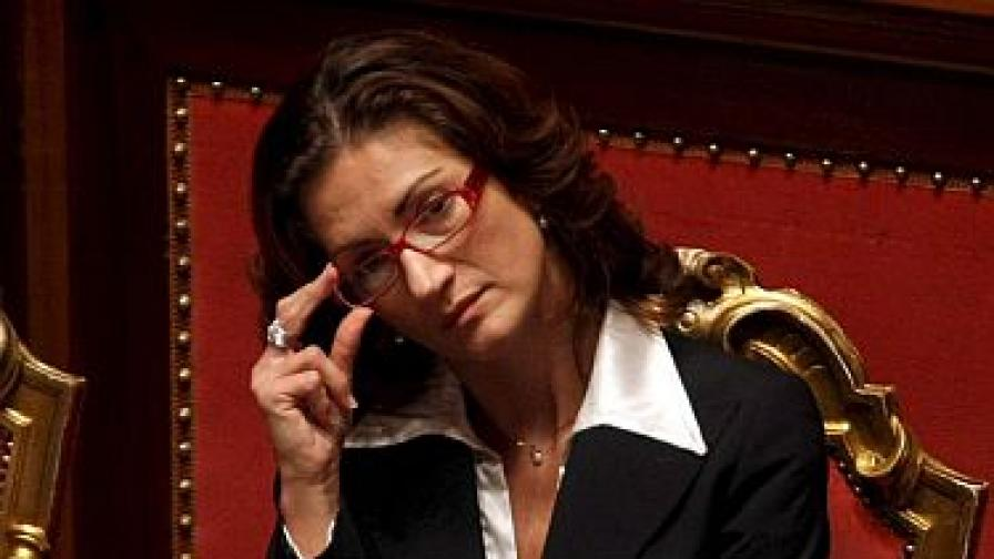 Италианска министърка се омъжи посред нощ