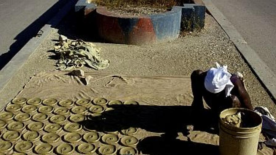 В Хаити ядат питки от кал