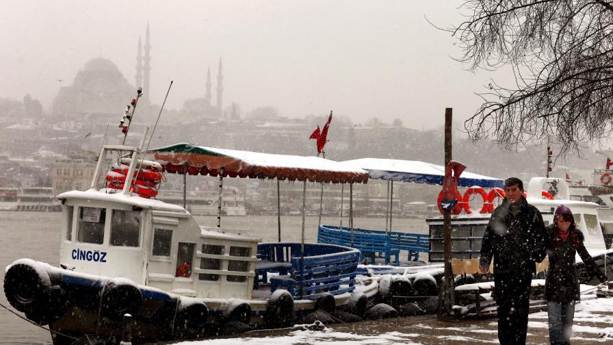 И Турция замръзна