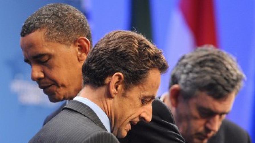Обама, Саркози и Браун на срещата на високо равнище на Г-20 в Питсбърг