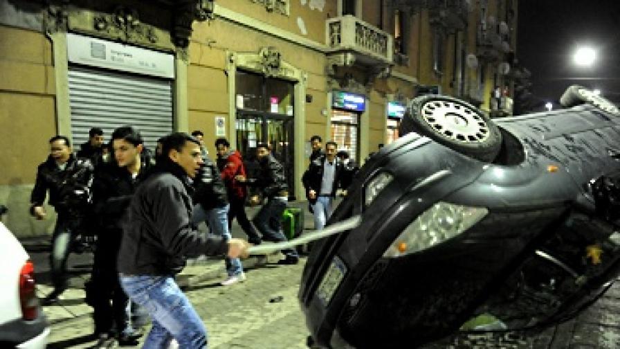 Етнически сблъсъци след убийство в Милано