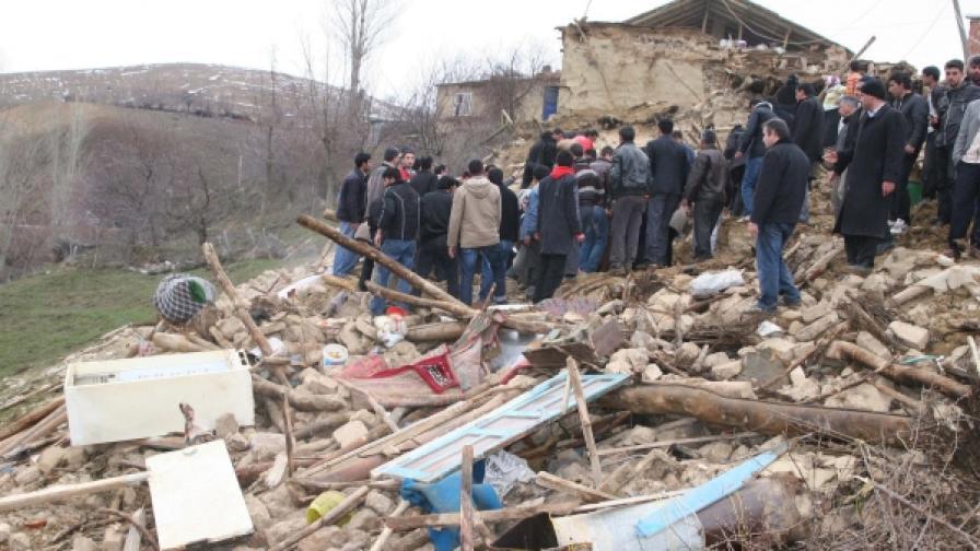 След земетресението в Източна Турция вчера