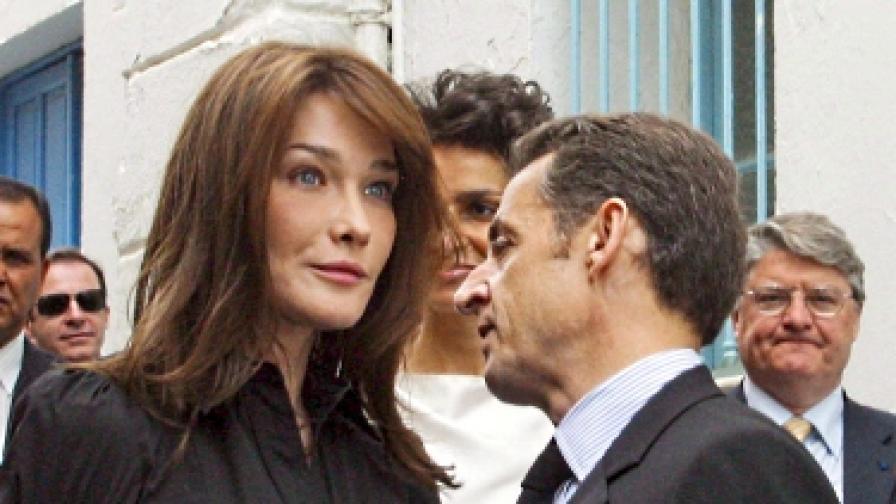 Слухове за изневери тресат семейство Саркози