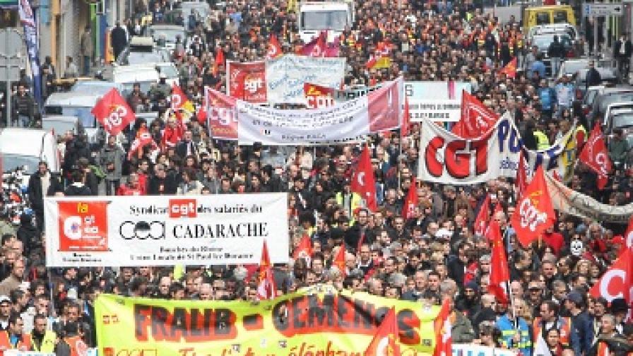 """""""Взривоопасен"""" протест във Франция"""