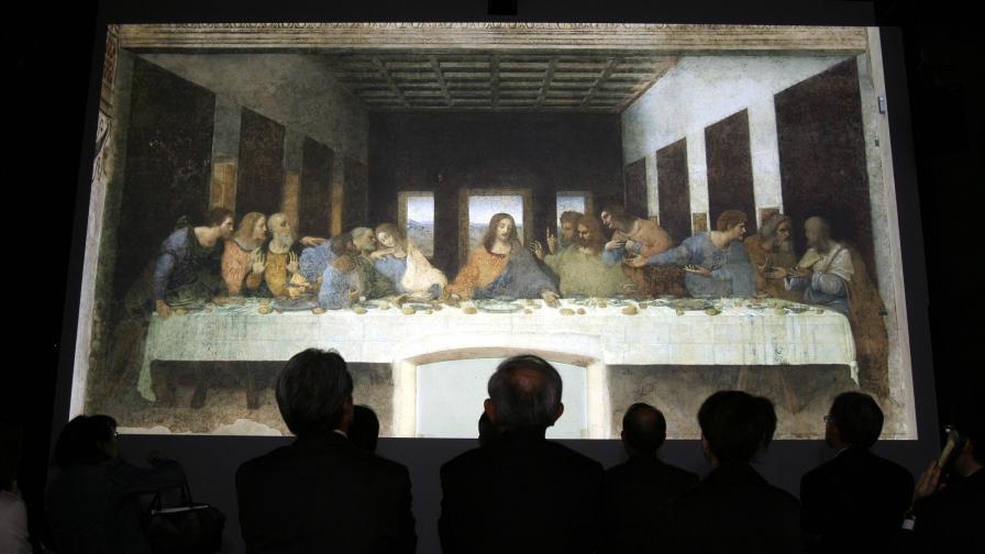 """Шедьовърът """"Тайната вечеря"""" на Леонардо да Винчи"""