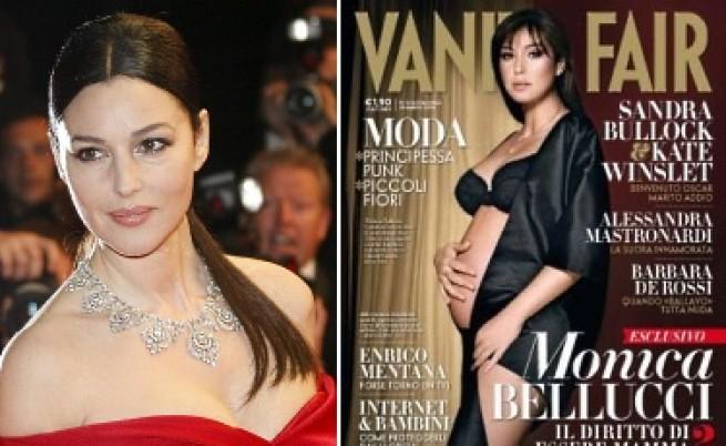 Моника Белучи се снима полугола и бременна