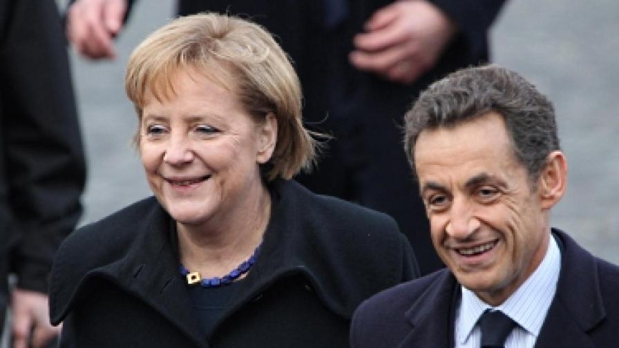 Подкрепата на най-голямата икономика в Европа - Германия, бе уговорена на четири очи между Меркел и Саркози