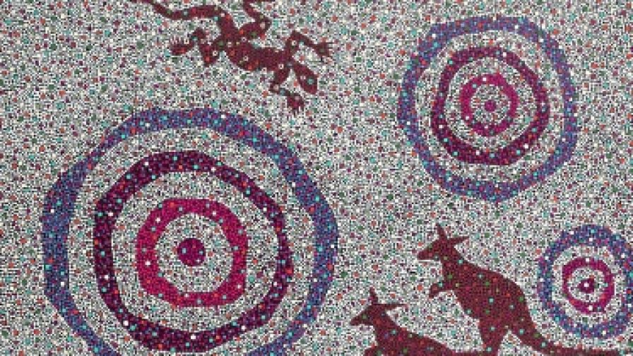 Изкуството на аборигените пресъздава дълбоката им връзка с природата