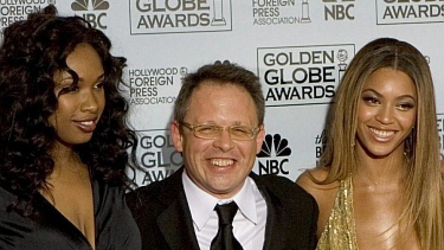"""Режисьорът Бил Кондън с актрисите от """"Мечтателки"""" Бийонсе Ноулс (вдясно) и Дженифър Хъдсън"""