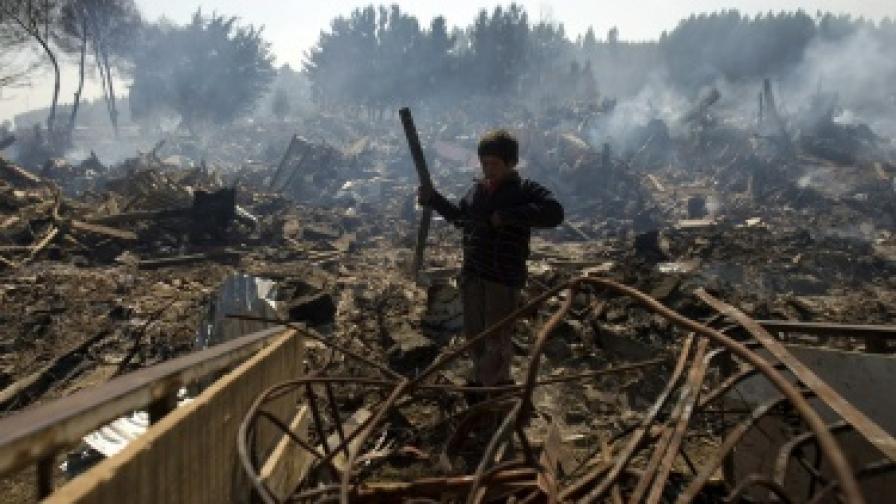 Пак силно земетресение в Чили, няма жертви