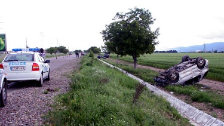 Тежка катастрофа на пътя София-Бургас