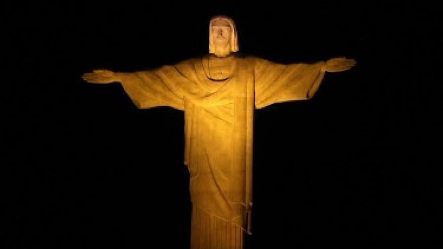 Статуята на Христос над Рио - в пълния си блясък