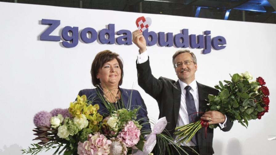 Бронислав Коморовски е новият президент на Полша