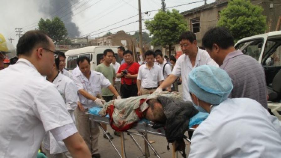 12 убити и 300 ранени при експлозия на канализация в Китай
