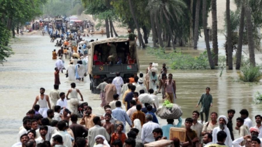 20 милиона пострадали от наводненията в Пакистан