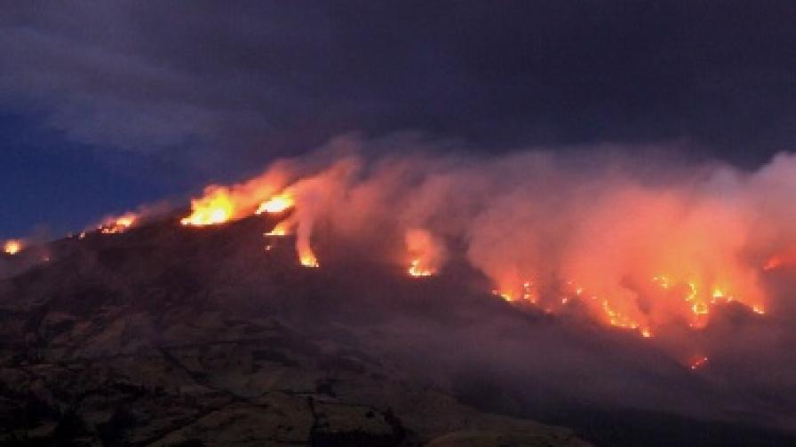 Вулкан изригна в Колумбия