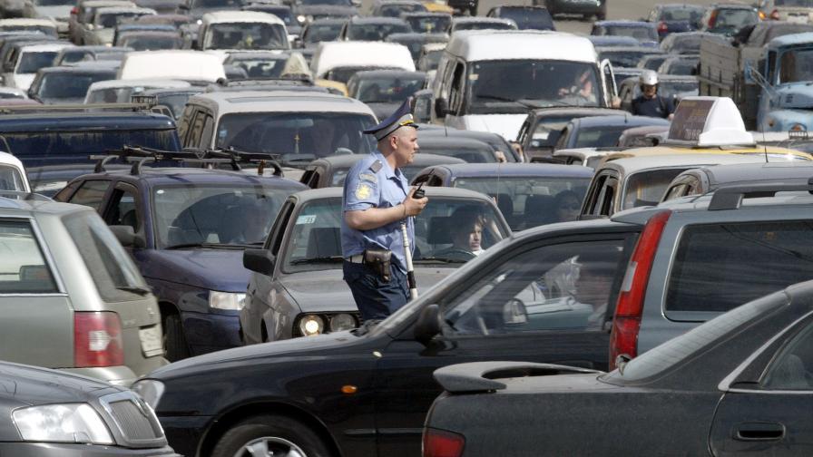 Трафикът в Москва наистина може да бъде отчайващ