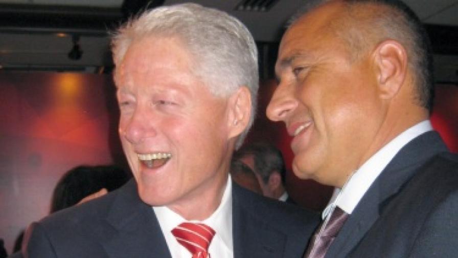 Бойко Борисов се срещна с Бил Клинтън