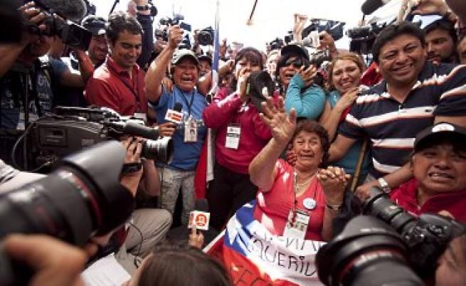 Спасяването на чилийските миньори завладя цял свят