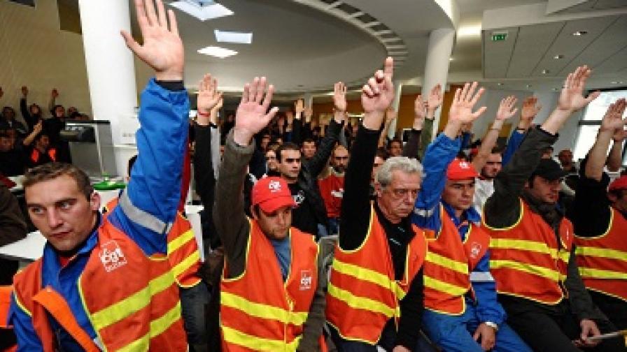 Франция губи между 200 и 400 млн. евро дневно заради стачките
