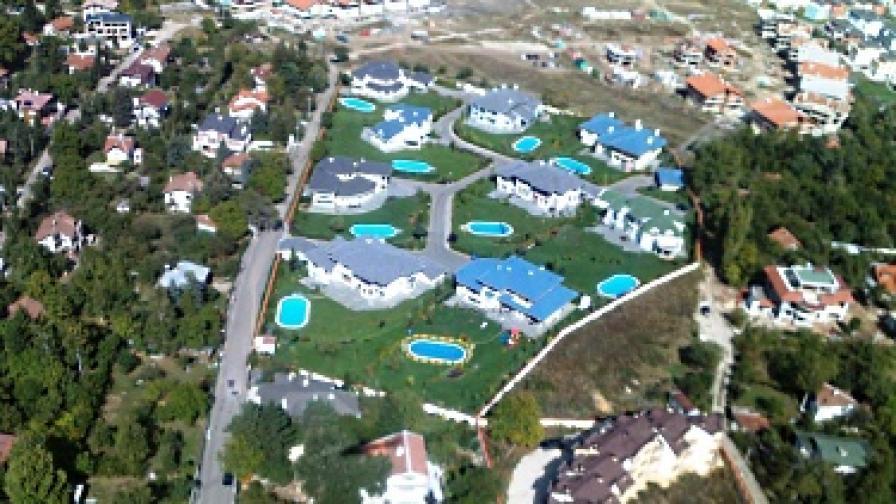 Снимка от въздуха на имоти в южен квартал на София