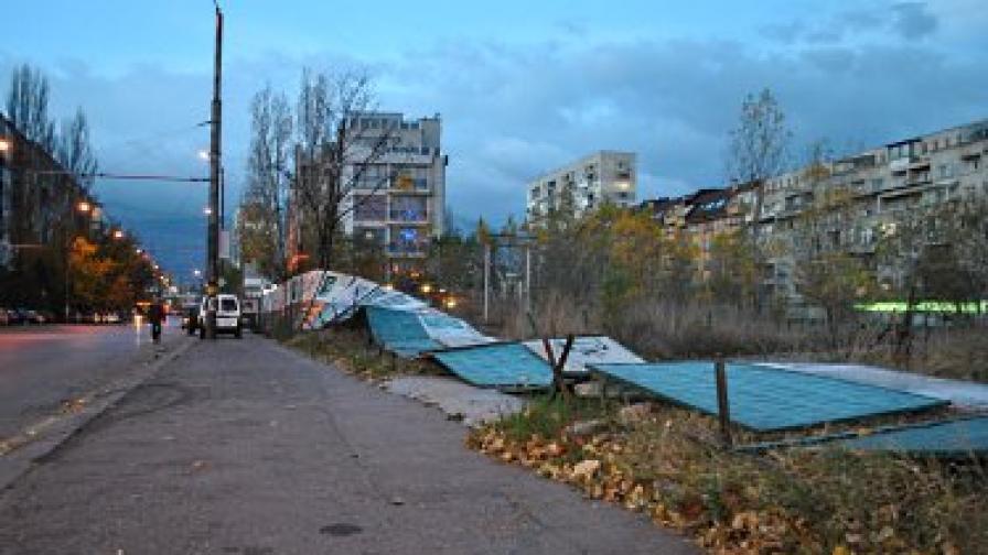 Вятърът предизвикал най-много проблеми в София