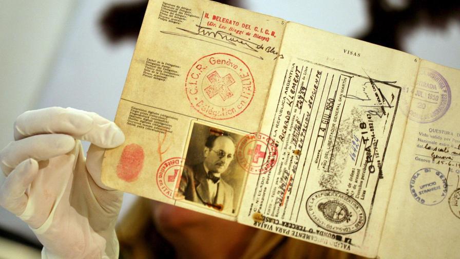 Паспортът, използван от Адолф Айхман в Аржентина