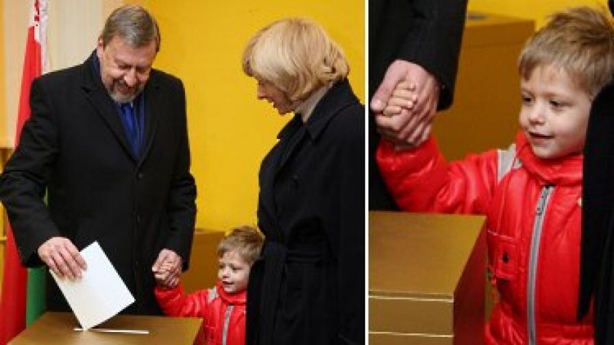 Тригодишният Даник - символът на беларуската опозиция