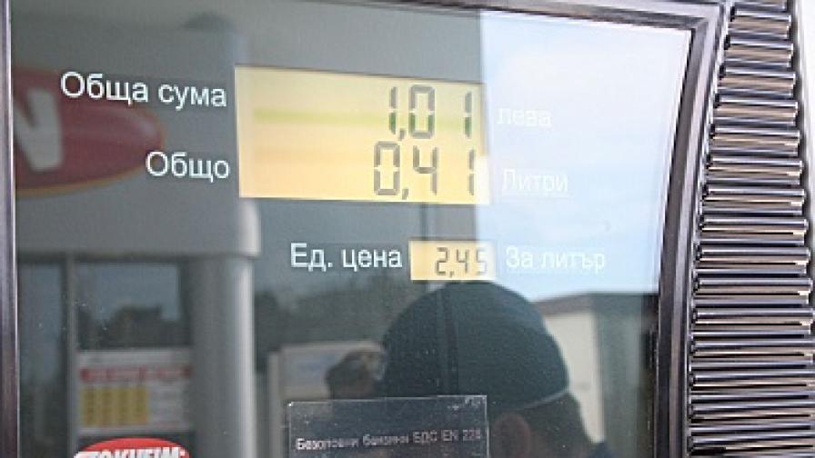 Цял ден превозвачи зареждаха за минимални суми по бензиностанциите в страната