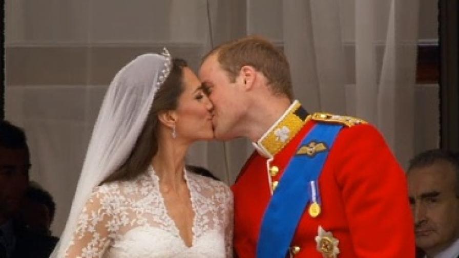 Катрин и Уилям се целунаха!