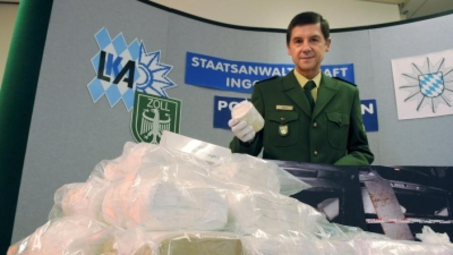 Кокаин, заловен от полицията в Германия