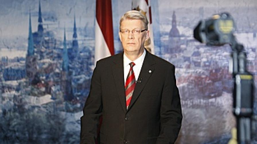 Латвийският президент Валдис Затлерс
