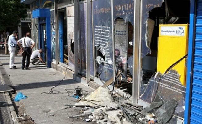 Погром в Атина заради приетите мерки за икономии