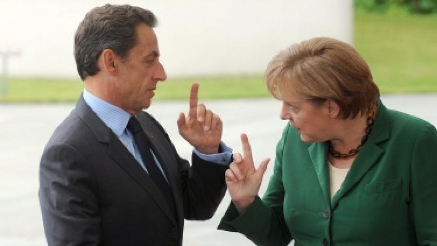 Френският президент Никола Саркози и германският канцлер Ангела Меркел