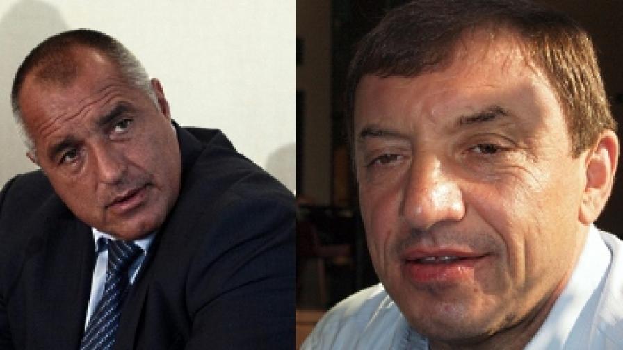 Авторът е интервюирал Бойко Борисов (вляво) и Алексей Петров