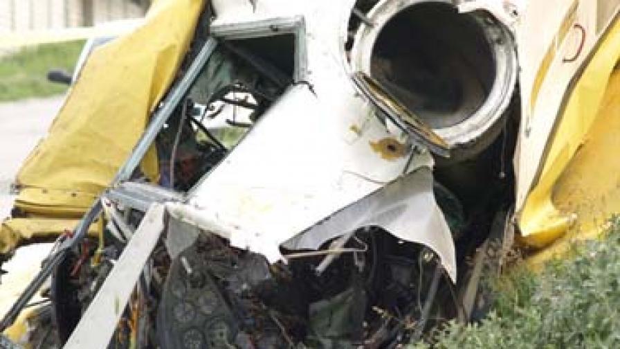 Самолет катастрофира на летището в Приморско, има две жертви