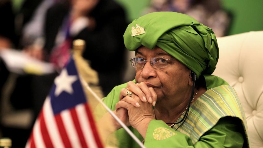 Президентът на Либерия Елън Джонсън-Сърлийф